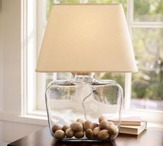 Eggs Filled Glass Lamp