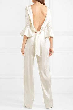 28cc144726b Seren - Gee open-back silk-satin jumpsuit