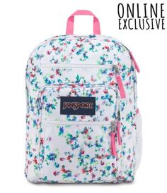Explore the features of our Big Student backpack. Available in a variety of colors and patterns, this large backpack is perfect for anyone on the go. Cute Backpacks For School, Cute School Bags, Big Backpacks, Cute School Supplies, Mochila Jansport, Jansport Superbreak Backpack, Guess Backpack, Kids Bags, Cute Bags