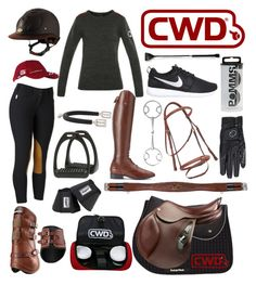 """cwd themed outfit"" by a-circuit-equestrian on Polyvore featuring INC International Concepts, Ariat, NIKE, women's clothing, women, female, woman, misses and juniors"