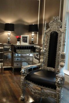 Liv Chic modern baroque custom furniture and interior design!love the chair!!