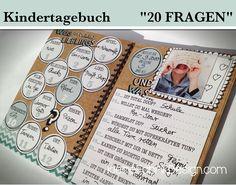 KINDERTAGEBUCH *20 FRAGEN* zum Geburtstag von KleineFabrik auf DaWanda.com