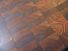 end grain wood floor