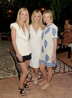 Gwyneth Paltrow, Vicky Vlachonis, and Cameron Diaz at the launch of The Body Doesn't Lie.