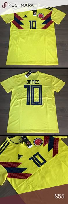 Colombia James #10 Soccer Adidas jersey men 17/18 Colombia National Team James #10 Soccer Adidas jersey men 17/18 adidas Shirts Tees - Short Sleeve