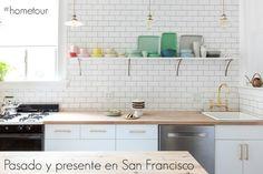 Home Tour: pasado y presente se fusionan en San Francisco Room Inspiration, Interior Inspiration, Kitchen Dining, Kitchen Cabinets, Ikea Cabinets, Kitchen Tile, Kitchen Reno, Dining Rooms, San Francisco Houses