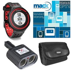 Garmin Forerunner 220 Black/Red Deluxe Bundle with Heart Rate Monitor >>> Click image for more details.