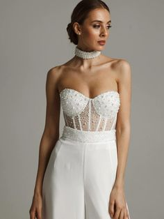 Wedding Suits For Bride, Wedding Corset, Custom Wedding Dress, Jumpsuit Formal Wedding, Cocktail Gowns, White Bridal, Unique Dresses, Classy Outfits, Suits For Women