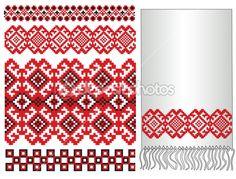 Украинский узор вышивки — Векторная картинка #37543005