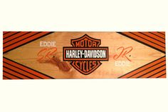 Harley Davidson Wood Wall Art, Personalized Sign