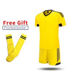 ONEDOYEE New Children Football Jerseys Boys Soccer Clothes Sets Short  Sleeve Kids Football Uniforms Kids Soccer 6a8f9a8bc5ba0