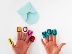 Say I Love You with a Finger Craft Valentine