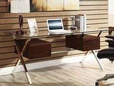 Modway Suspended Computer Desk Finish: W Computer Stand For Desk, Office Computer Desk, Modern Home Office Desk, Home Office Furniture, Studio Furniture, Wall Dining Table, Glass Top Desk, Rustic Living Room Furniture, Industrial Furniture