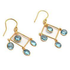 Gemstone: Blue Topaz Hydro Gemstone Shape:Drop Gemstone Quality:Excellent Gemstone Cut: Faceted Gemstone Type: Hydro Vermeil: 2 Micron Material: 925 Sterling silver