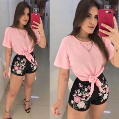 Simple and beautiful ❤️ Cute Summer Outfits, Outfits For Teens, Cool Outfits, Casual Outfits, Cute Fashion, Girl Fashion, Fashion Outfits, Fiesta Outfit, Mermaid Prom Dresses Lace