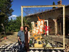 Con Gloria Campriani
