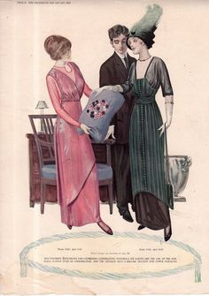 1912 Delineator Fashion Print