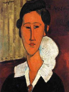 Anna (Hanka) Zborowska by Amedeo Modigliani #art  Modigliani is one of my favorite artists, I've had a painting of his hanging in my homes since I was twenty.