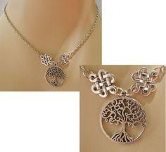 Silver Celtic Tree of Life Pendant Necklace Jewelry Handmade NEW Adjustable #handmade