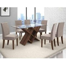 Dinning Table Wooden, Glass Dining Table Designs, Dinning Table Design, Furniture Dining Table, Dining Room Table, Dinning Set, Oak Dining Sets, Welded Furniture, Luxury Dining Room