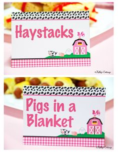 Barnyard Birthday Party Labels, Instant Download, Printable, Food Tags, Place Cards, Party Signs by KellysCottageShoppe on Etsy https://www.etsy.com/listing/156847359/barnyard-birthday-party-labels-instant