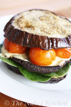 Roasted Eggplant Sandwich with Lemon Garlic Aioli | The Naked Kitchen