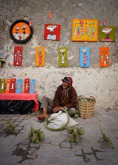 Street vendor . Essauoira