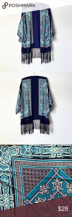 🦋SALE Fringe Kimono Fringe Kimono 🌹excellent used condition Tops