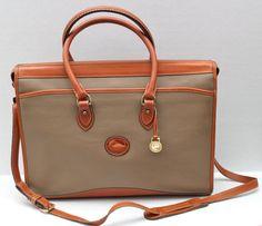 vintage Dooney & Bourke pebbled leather briefcase by RedTuTuRetro, $150.00
