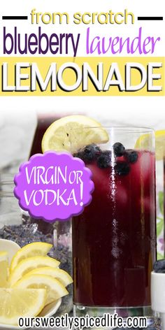 Blend up this easy, homemade blueberry lavender lemonade for a unique and flavorful summer drink! Drink as is, or add vodka for a cocktail party! Lavender Cocktail, Lemonade Cocktail, Lavender Lemonade, Blueberry Vodka, Blueberry Lemonade, Blueberry Recipes, Fruity Alcohol Drinks, Drinks Alcohol Recipes, Fancy Drinks