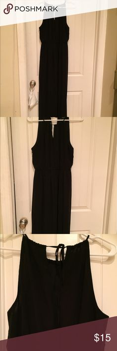 Sheer maxi dress Black sheer maxi dress. Has a slip underneath so it is not see through. Super cute and comfortable dress it up for any occasion. Only worn a few times. Dresses Maxi
