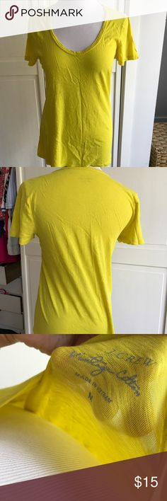J. Crew Vintage Cotton Yellow T-Shirt Bright yellow, barely worn, size medium J. Crew Tops Tees - Short Sleeve