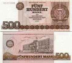 Berlin | DDR. 500 Mark. Deutschen Demokratishen Republik