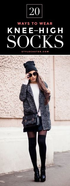 Best Outfit Ideas For Fall And Winter How 20 Fashion Girls Wear Knee-High Socks