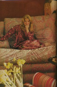 """Candice Bergen - her look, the furnishings, the colors - I love this whole """"thing."""""""