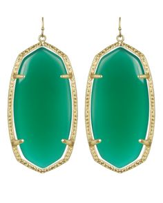 Love the color and shape of these earrings!