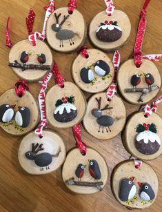 100 kreative ideen für steine bemalen in weihnachtsstimmun
