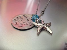 Footprints in the Sand poem... Hand stamped pewter by ErnieBugs, $25.00