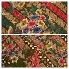 Hokokai handrawn batik with butterfly pattern. These parts are same cloth. Indonesian batik.