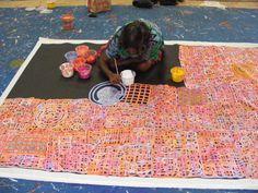 "***SOLD*** Australian Aboriginal Art Painting by BETTY MBITJANA ""BODY PAINT"" 240 x 150 cm. #art #aboriginalart #australianart #aboriginalpainting"