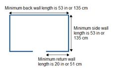 minimum walk-in dimensions