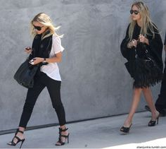 Mary-Kate and Ashley. So chic.