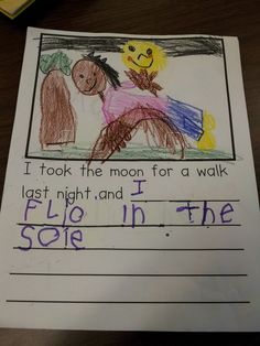 We read the book I Took the Moon for a Walk. My kids loved this story. This book has a several sentences that are great for having students...