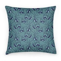 Cute Raccoon Pile Pattern | Pillows and Pillow Cases | HUMAN