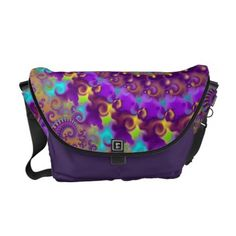 Hippy Pattern Purple Turquoise and Yellow Commuter Bag | Hippie Bag - http://www.hippygiftshop.com/hippy-pattern-purple-turquoise-and-yellow-commuter-bag-hippie-bag/ #bag #hippiebag #bags #hippie #gifts