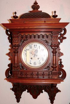 Lenzkirch Gallery Clock at antique-clock.com                                                                                                                                                                                 More