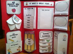 End of Year Lapbook.  A great way for students to remember their year and a wonderful keepsake for parents.