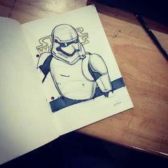 """#Yesterday #morning #sketch  #pen #pencil  #marker #stormtrooper #starwars #rubberband #isd"" Photo taken by @donphilipantony on Instagram, pinned via the InstaPin iOS App! http://www.instapinapp.com (11/21/2015)"