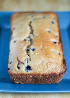 Vegan Lemon Blueberry Loaf - this low fat, healthy loaf is packed with so much flavor! Only 123 calories per slice!