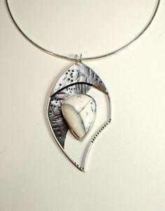 Tammy B. Jewelry   Aladdin necklace. Sterling silver and snow scene agate. tammybjewelry.com